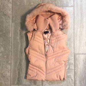 Cute n sexy Bebe vest with zip off hood